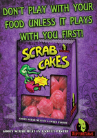 Scrab Cakes advertisement poster by zimmii