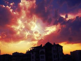 Amazing Sunset in Ankara, Turkey by ErvaPeker