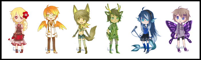 Adoptables- PRIDE! (CLOSED) by Faize