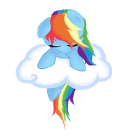 Rainbow Dash sleeping :3 by Ollis100