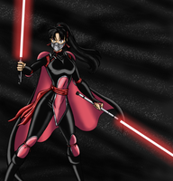Darth Sango mask colored by JosephB222