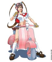 lolita in vespa by marcelopont