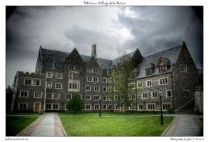 Whitman College Side Dorms by yellowcaseartist