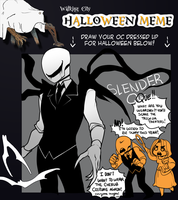 WALKING CITY OCT : Halloween meme! by Nyaph