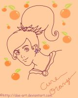 Cure Orange preview lineart by DAE-Art