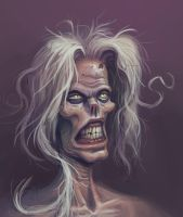 Zombie Lady by bonvillain