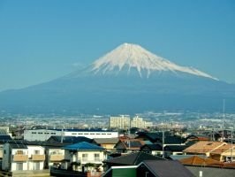 Fuji-san from the Bullet Train by mac-chipsie