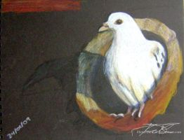 White Pigeon by Flynn-the-cat