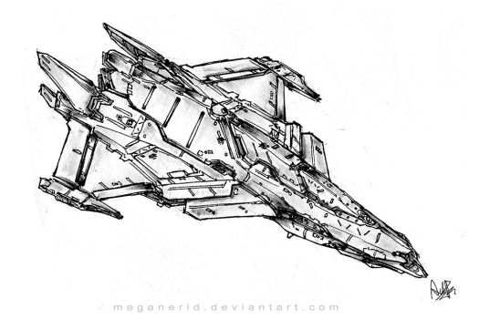 Space Fighter 3 by MeganeRid