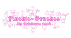 Plushie brush-set by Exiztence