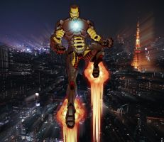 Iron man in Tokyo by A-Flury