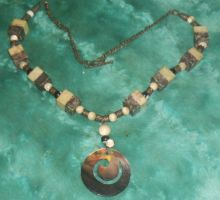 Sea Spiral Necklace 2 by Windthin