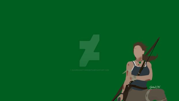 Lara Croft Minimalist (Background) by GuardianOfTheNight2