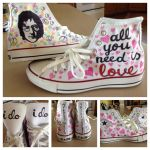Beatles Sharpie Shoes by panther2010