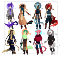 Adopts 28-35 [Auction- Closed] by sandflake-adoptables