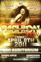 Fashion Show Party Flyer by V1sualPoetry