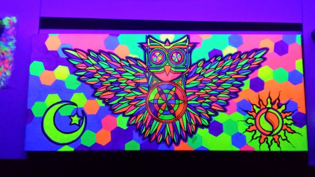 trippy owl  by rankeinz