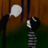 Slenderman and Artist : You Annoy me by Xx-MayhemOnMisery-xX
