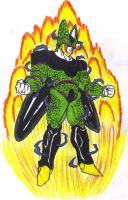 PerfectCell Goku SS4 Adsorbed by DBZ2010