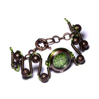 Steampunk Watch Bracelet Green by CatherinetteRings