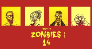 POST IT ZOMBIES ZERO FOURTEEN by QuinteroART