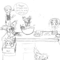 Gremlins never go in kitchens by Griffon2745