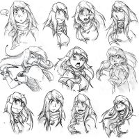 Expression Sheet-Lorena Noble by sono