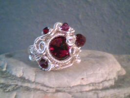 The Red Spring - Adjustable Ring by Carmabal