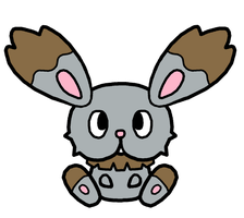 Bunnelby Pokedoll Art