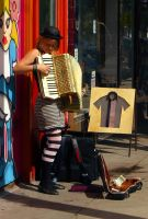Accordion Player by aquaraven