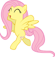 Frolicking Fluttershy by videogamesizzle