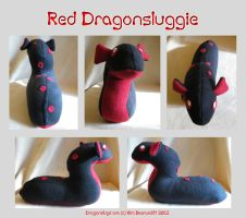 Red Dragonsluggie (SOLD) by SPPlushies