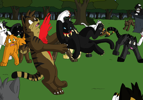 The Death of Tigerstar by Miiroku