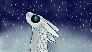 IceWing In A Rainy Night by SereneOblivion