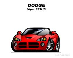 Chibi Dodge Viper SRT-10 by CGVickers