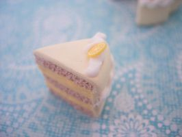 Slice of lemon cake by pinkDudu