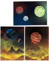 mountains and planets by SeregaGart