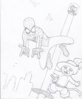 Spiderman: birthday card by bam217