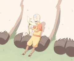 Aang, Momo and Appa's feet by VanillaSkyWolf