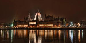 Budapest Parliament at Night by Creative--Dragon