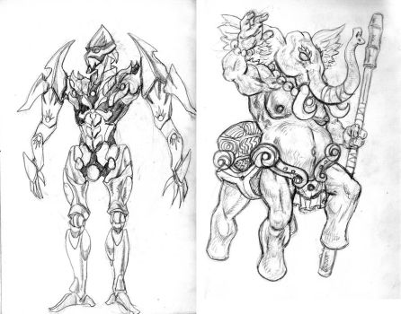 new oc's from small sketchbook 42 by infinitestudios2005
