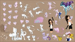 HUGE Mew Sketchdump by espie