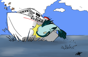 Leviathan vs cruise ship by art-ikaro