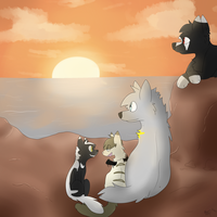 Lets Watch The Sunset Together by babyfawns