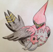 Art Trade- Fletchling and Talonflame by Ghibli-and-OtakuNess