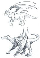 Dino-dragons by starryeyed-nz