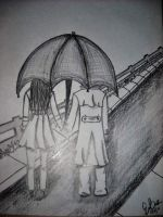 Couple in the Rain by xXAngelineXx