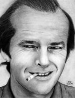 Jack Nicholson - young by Doctor-Pencil