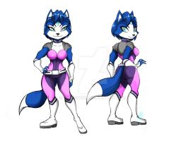Krystal Fox commission by WhiteFox89