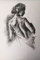 Charcoal Figure Drawing by Lodac